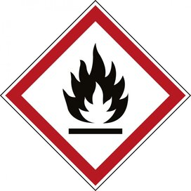 Ghs Symbool - Ghs02 - Brandgevaarlijk (Sticker)