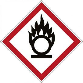 Ghs Symbool - Ghs03 - Brandbevorderend (Sticker)