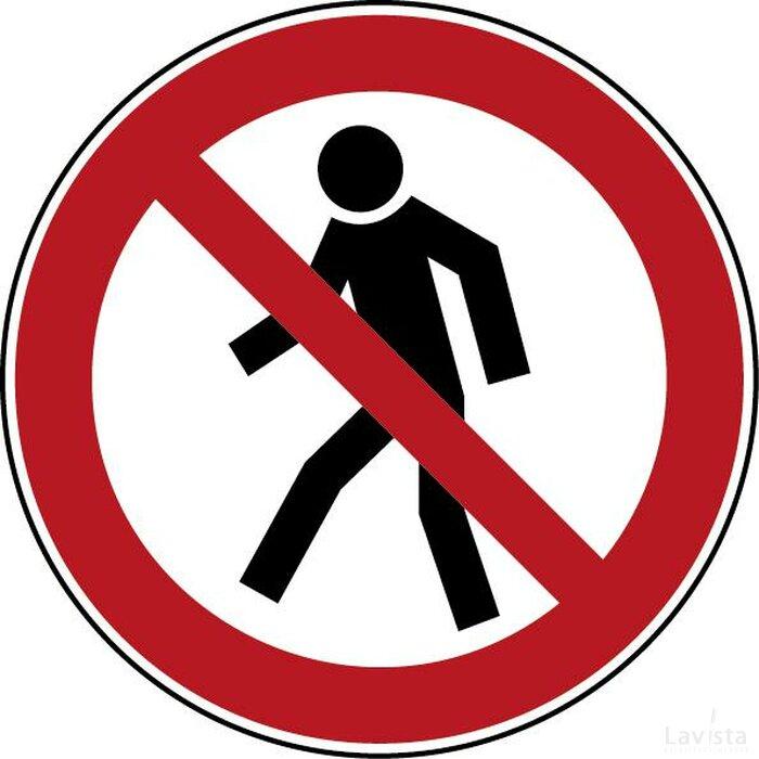 Verboden Voor Voetgangers (sticker)