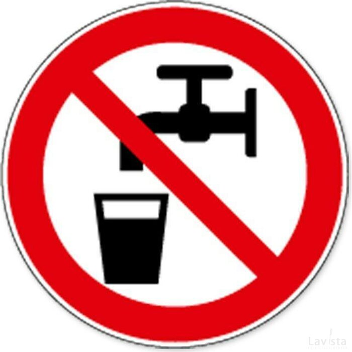 Geen Drinkwater (Sticker)