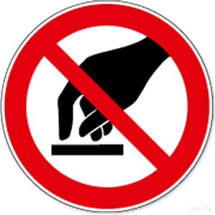 Aanraken Verboden (sticker)