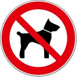 Meenemen Van Dieren Verboden (sticker)