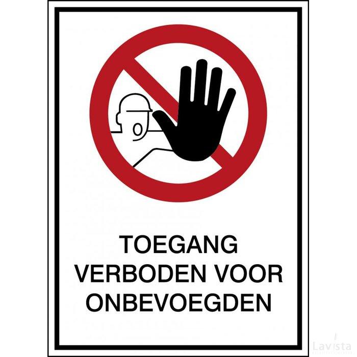 Verboden Toegang Voor Onbevoegden (sticker)