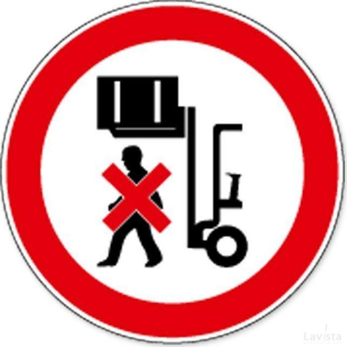 Niet Onder Opgetilde Last Staan (sticker)