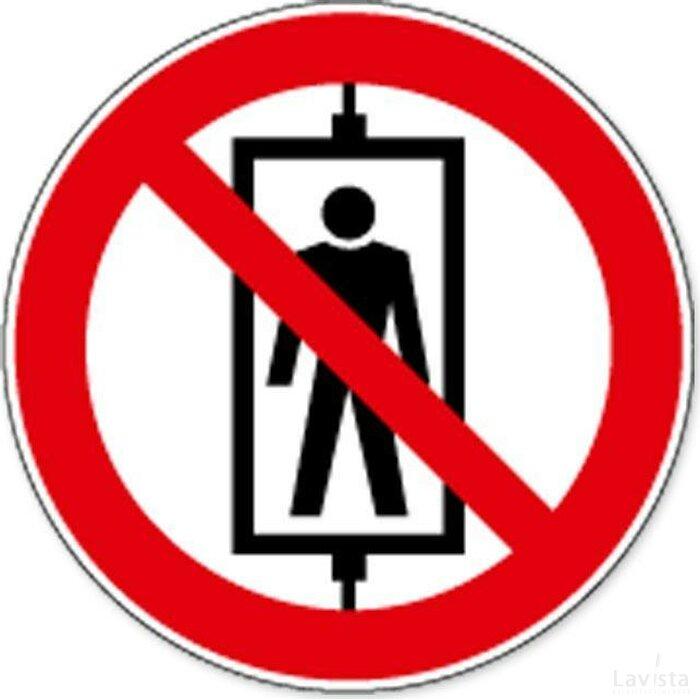 Personenvervoer Verboden (sticker)