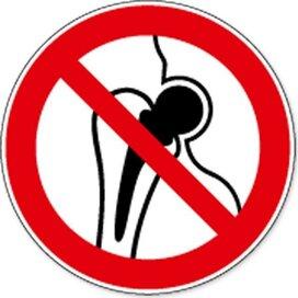 Verboden Voor Personen Met Metalen Implantaat (Sticker)