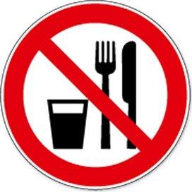 Eten En Drinken Verboden (sticker)