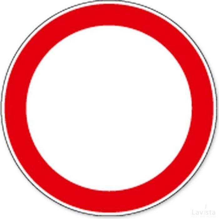 Verboden Voor Alle Typen Voertuigen (Sticker)