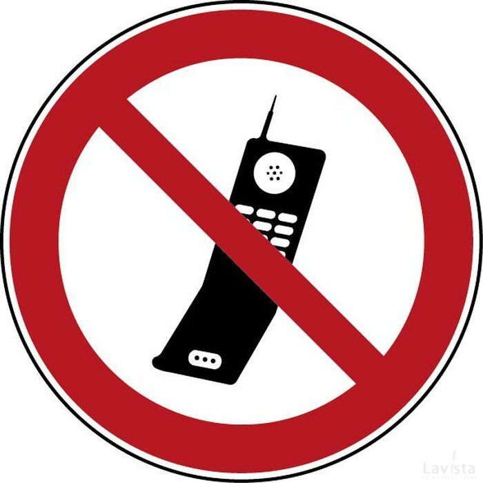Geactiveerde Mobiele Telefoons Verboden (sticker)