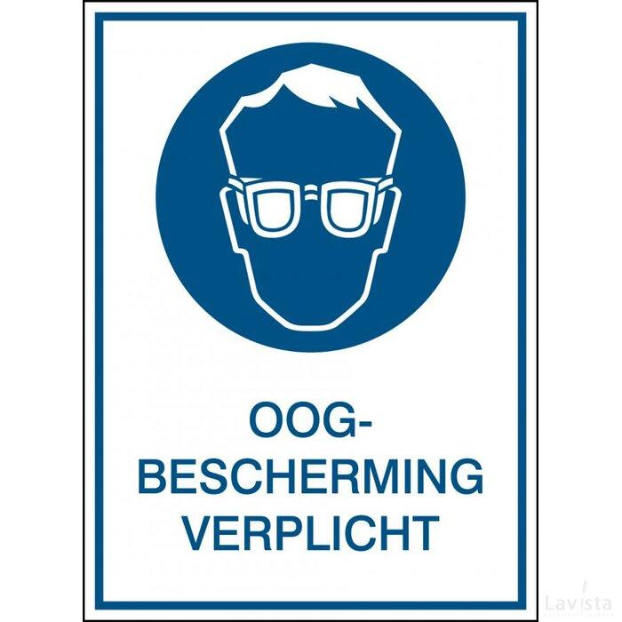 Oogbescherming Verplicht (sticker)