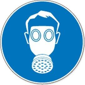 Ademhalingsbescherming Verplicht (Sticker)