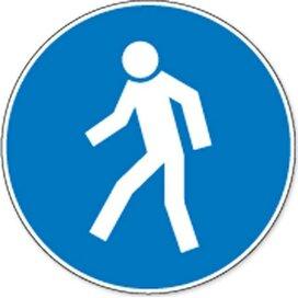 Verplichte Doorgang Voetgangers (sticker)