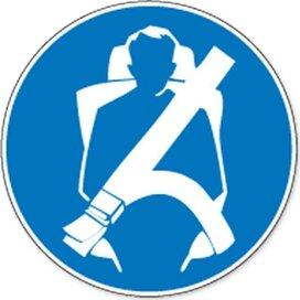 Veiligheidsgordel Verplicht (Sticker)