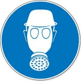 Veiligheidshelm En Ademhalingsbescherming Verplicht (sticker)