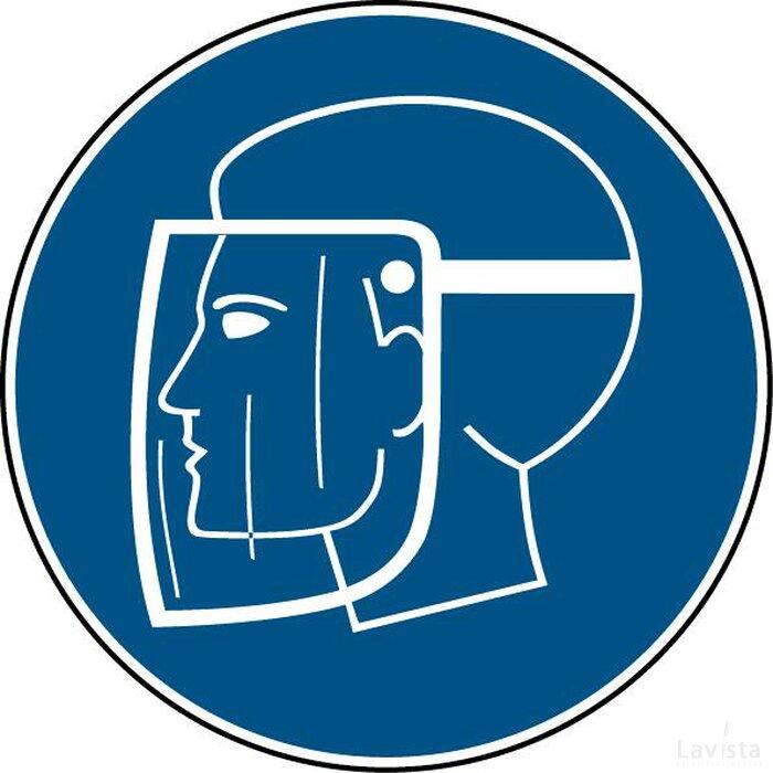 Gelaatsbescherming Verplicht (sticker)