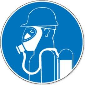 Gebruik Autonoom Ademhalingstoestel (sticker)