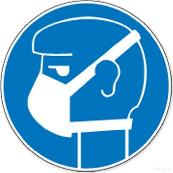 (lichte) Ademhalingsbescherming Verplicht (sticker)