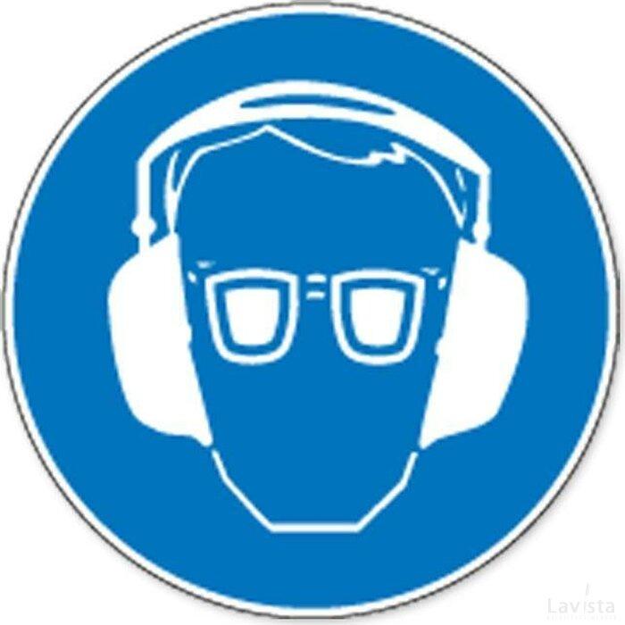 Oog- En Gehoorbescherming Verplicht (sticker)