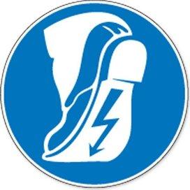 Antistatische Schoenen Verplicht (sticker)