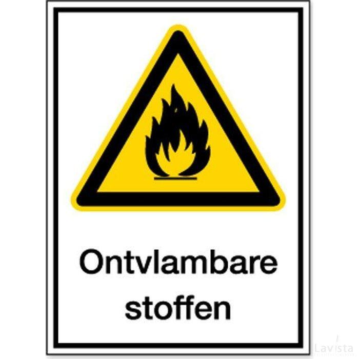 Waarschuwing; Brandgevaar/ontvlambare Stoffen (Sticker)