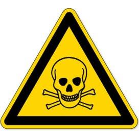 Waarschuwing; Giftige Stoffen (sticker)