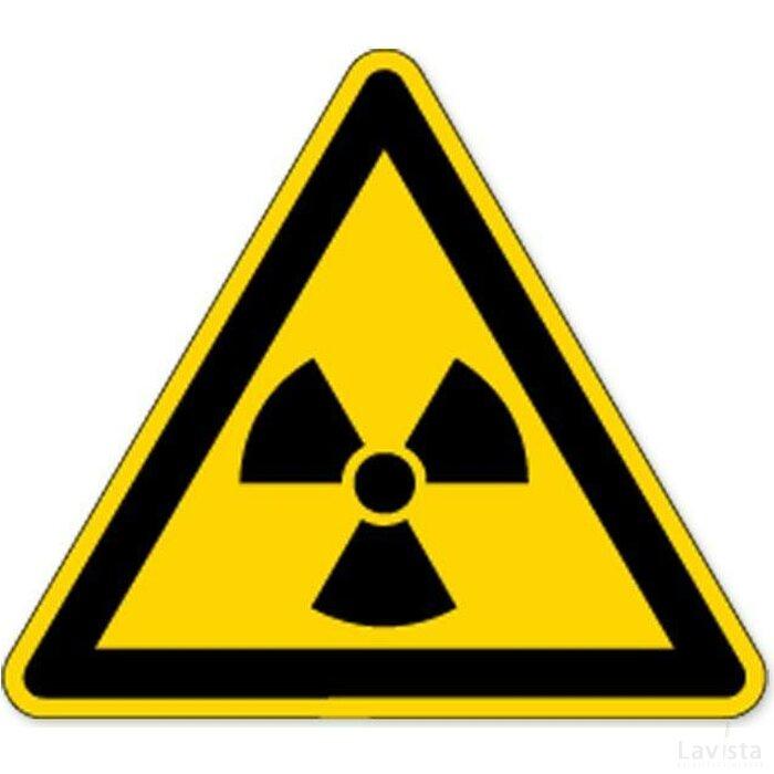 Waarschuwing; Radioactieve Stoffen (Sticker)
