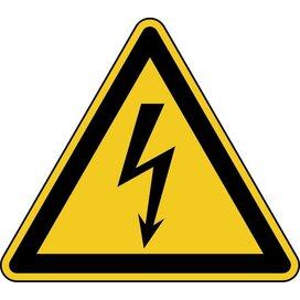 Waarschuwing: Elektrische Spanning (sticker)