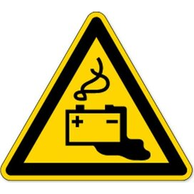 Waarschuwing; Laden Van Accu's (sticker)
