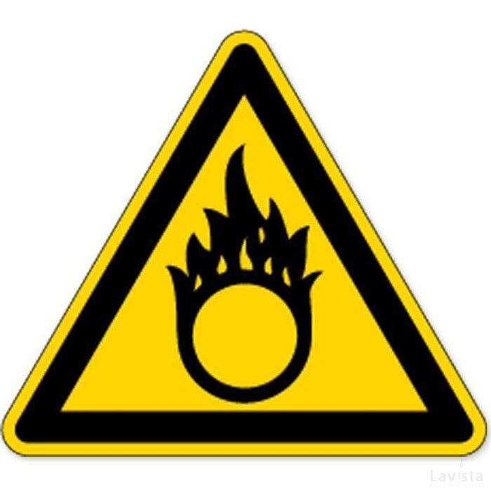 Waarschuwing; Oxyderende Stoffen (Sticker)