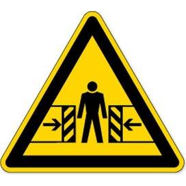 Waarschuwing; Knellingsgevaar (Sticker)