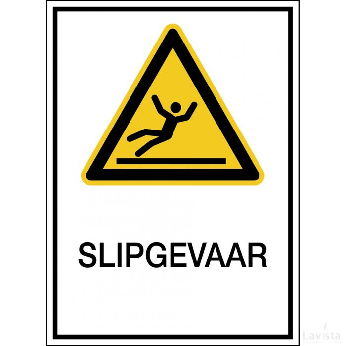 Waarschuwing; Glad Oppervlak (sticker)