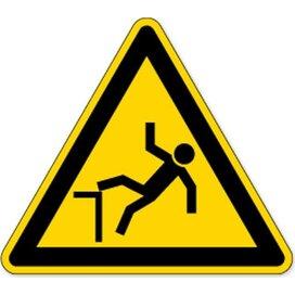 Waarschuwing; Vallen Door Hoogteverschil (Sticker)