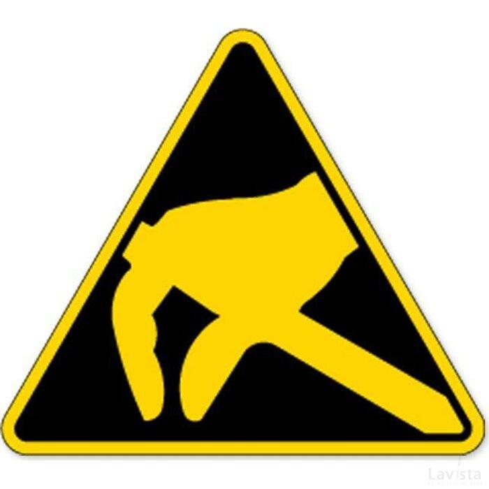 Waarschuwing; Voor Statische Lading Gevoelige Componenten (Sticker)
