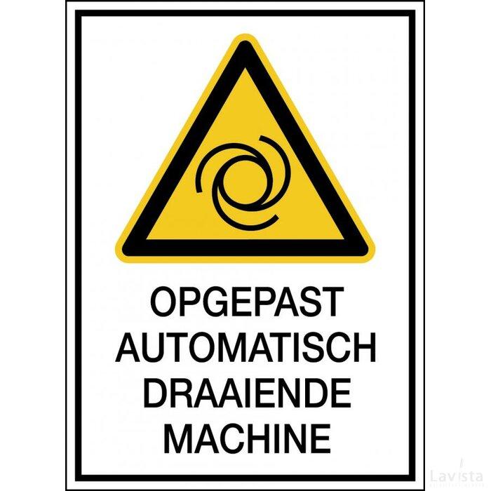Waarschuwing: Automatisch Startende Machine (sticker)