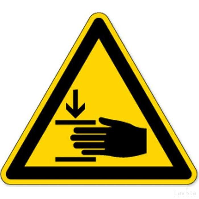 Waarschuwing; Verwondingen Aan De Hand (Sticker)