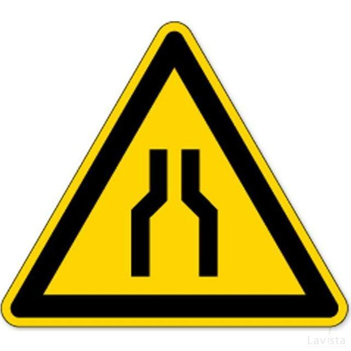 Waarschuming; Versmalling (sticker)