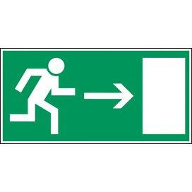 Nooduitgang (rechts) (sticker)