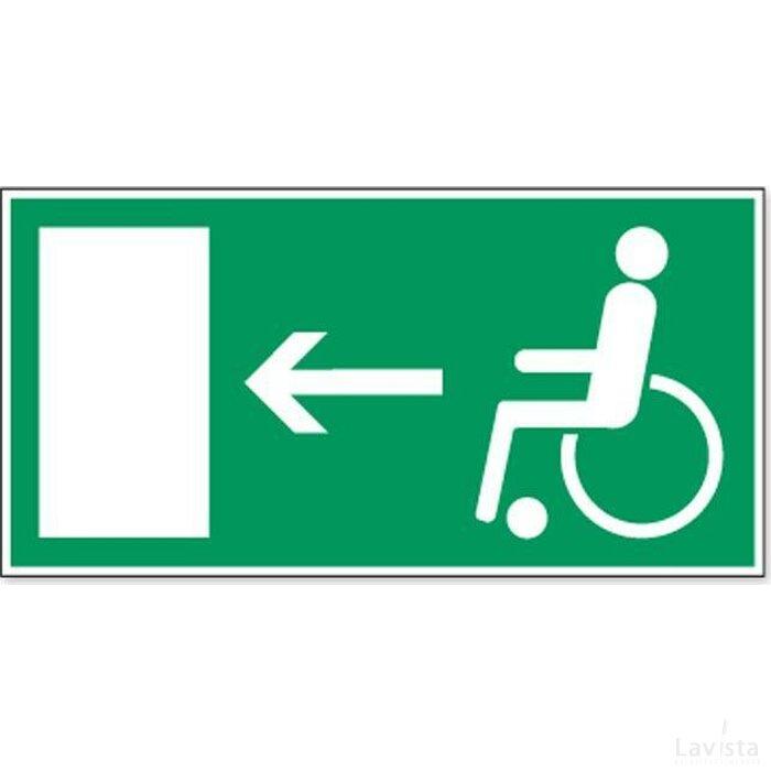 Vluchtweg Voor Gehandicapten (Sticker)