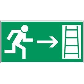 Vluchtweg Via Noodladder (Sticker)
