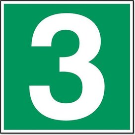 Nummer 3 (sticker)