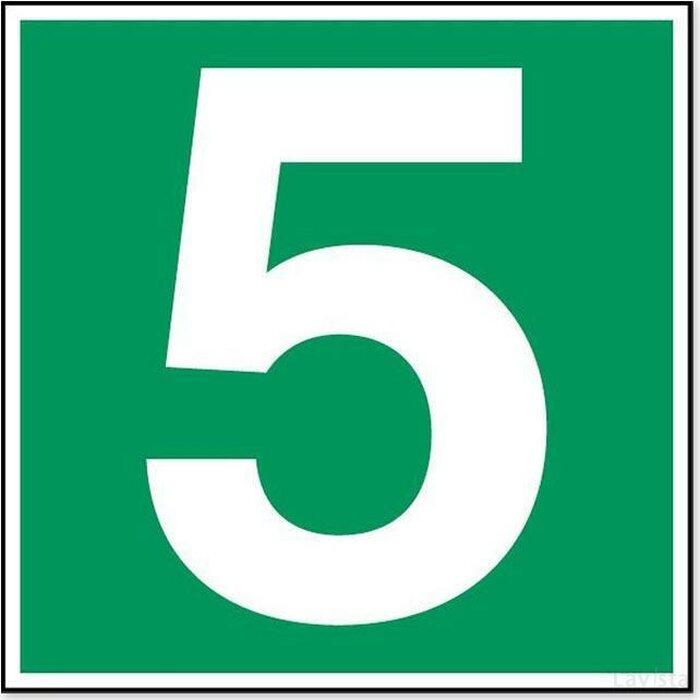 Nummer 5 (sticker)