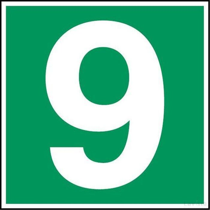 Nummer 9 (sticker)