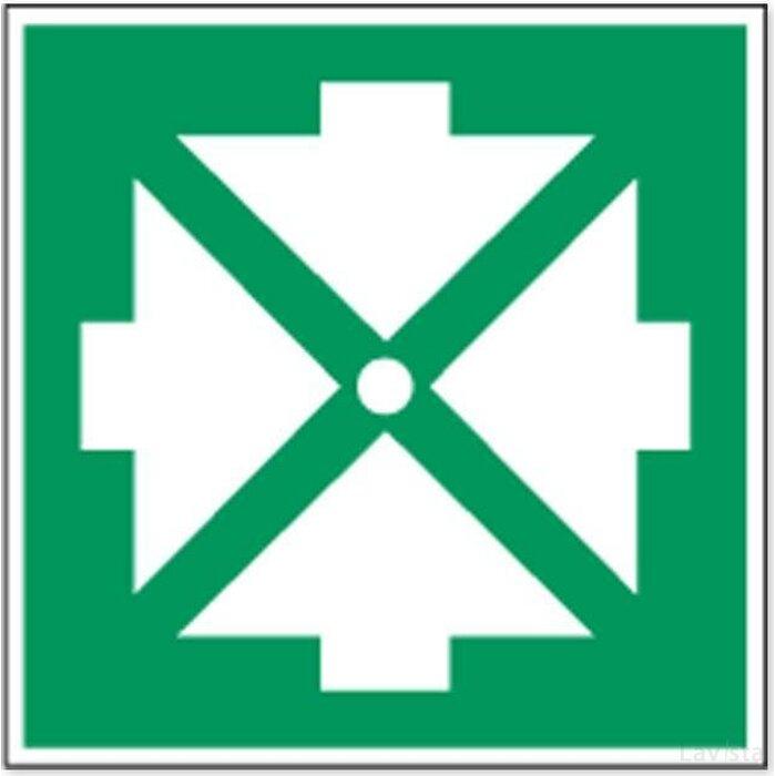 Verzamelplaats Bij Evacuatie (Sticker)