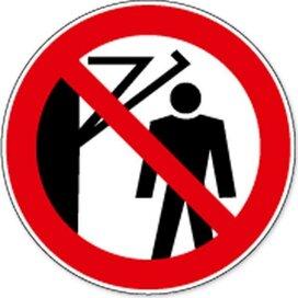 Verboden Onder De Hendel Te Lopen (sticker)