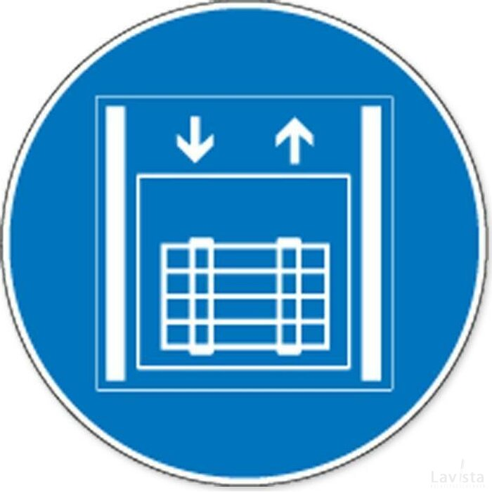 Goederenlift (sticker)