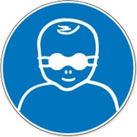Oogbescherming Voor Kinderen Verplicht (Sticker)