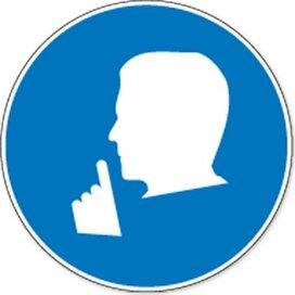 Stilte Verplicht (sticker)
