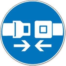 Veiligheidsriem Verplicht (sticker)