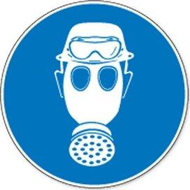 Dragen Van Helm, Gasmasker En Zuurbril Verplicht (sticker)