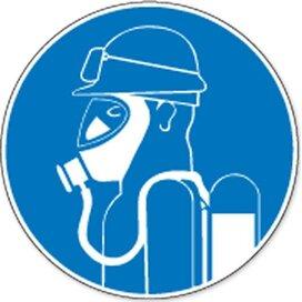 Zware Ademhalingsbescherming Met Speciale Bril Tegen (sticker)
